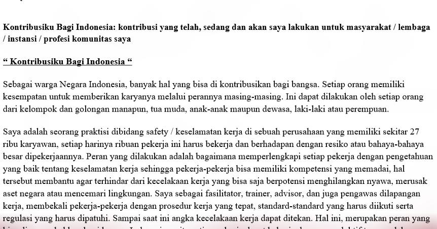 Contoh essay untuk beasiswa