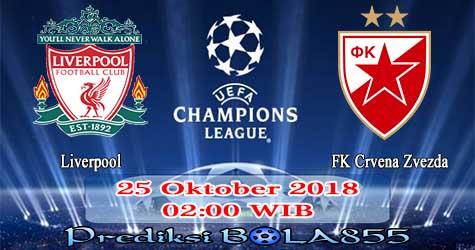 Prediksi Bola855 Liverpool vs FK Crvena Zvezda 25 Oktober 2018