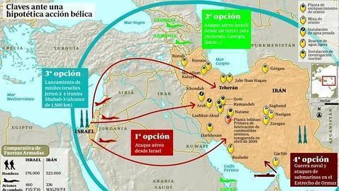 Resultado de imagen de Israel amenaza a Irán con una agresión similar a la de Gaza