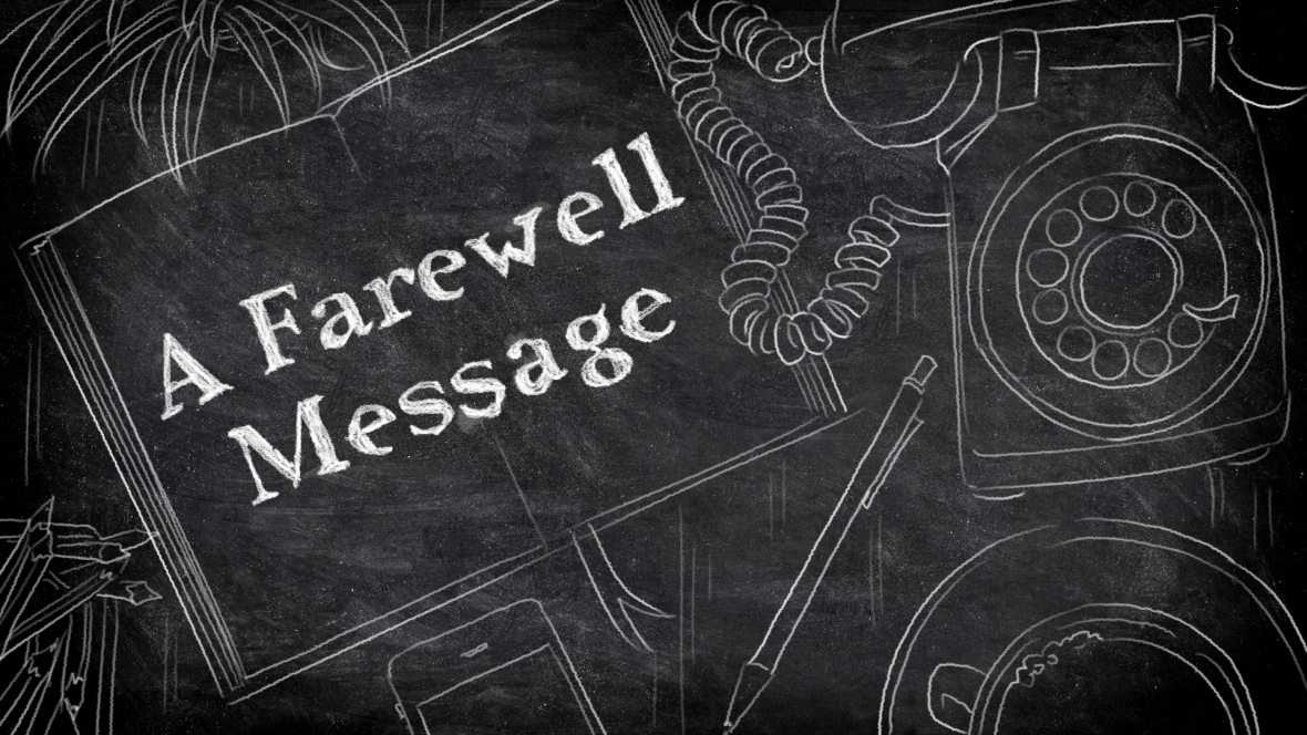 A farewell note