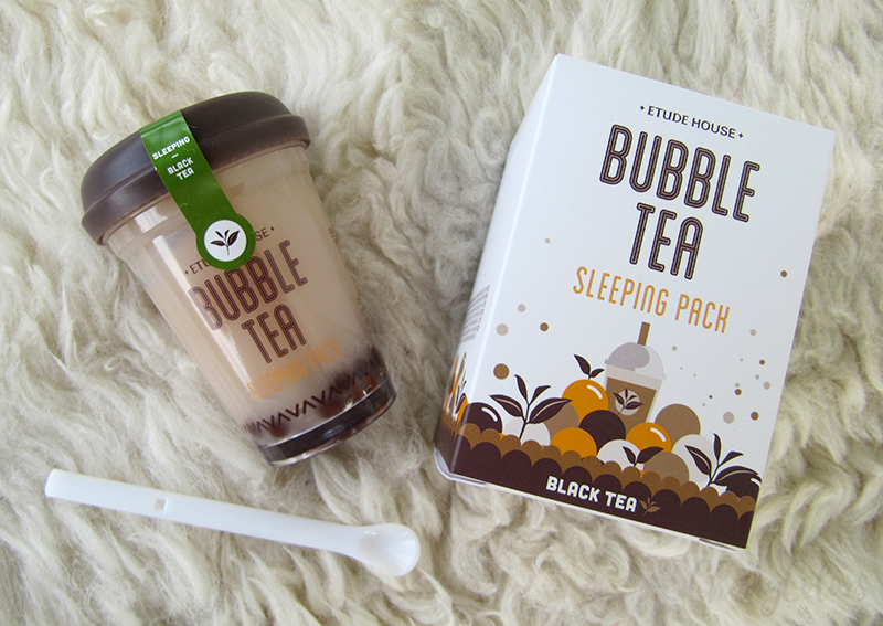 Etude House Bubble Tea Black Tea sleeping Pack
