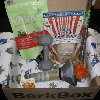 This month's BarkBox has an Olympic theme, no doubt because of the upcoming games. | aka Terri