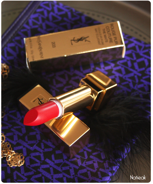 Rouge Rock Mat Pur couture   d'Yves Saint Laurent