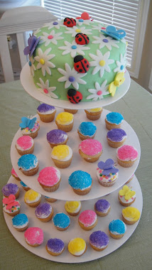 Spring Cake and Cupcakes