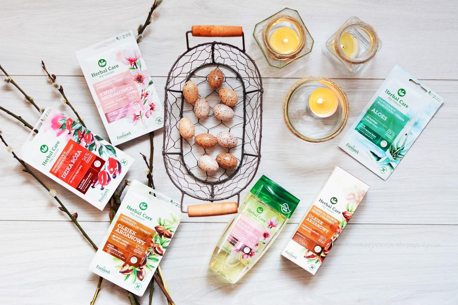 Farmona Herbal Care Wiosenne Przebudzenie olejkowy płyn kwiat migdałowca odżywczy olejek arganowy
