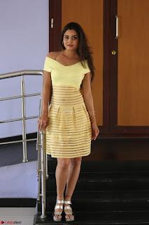 Shipra gaur in V Neck short Yellow Dress ~  035.JPG