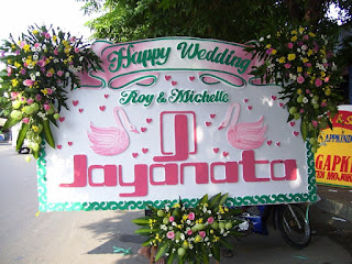 Bunga Papan Pernikahan_Happy Wedding