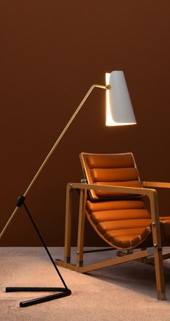 Floor lamp G21, Pierre Guariche design, 1951. Sammode Studio reissue
