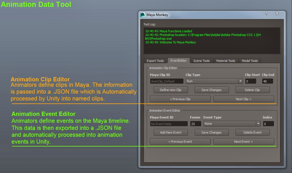 Pete Hanshaw: Maya: Animation Event Definition Tool