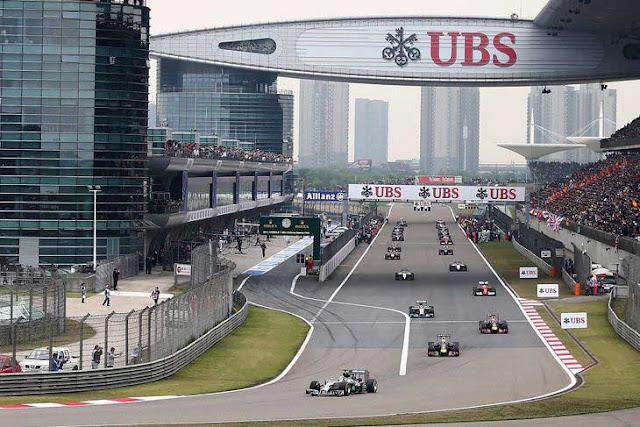 Horário da Corrida de F1 GP da China na madrugada deste domingo  -15/04/2018