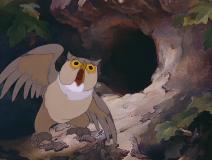 Friend Owl Bambi Bambi 1942 animatedfilmreviews.filminspector.com