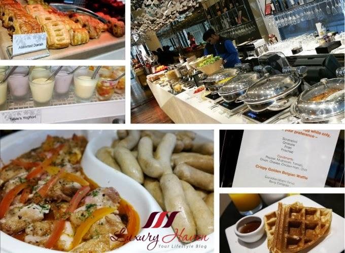 naumi hotel table by rang mahal buffet breakfast