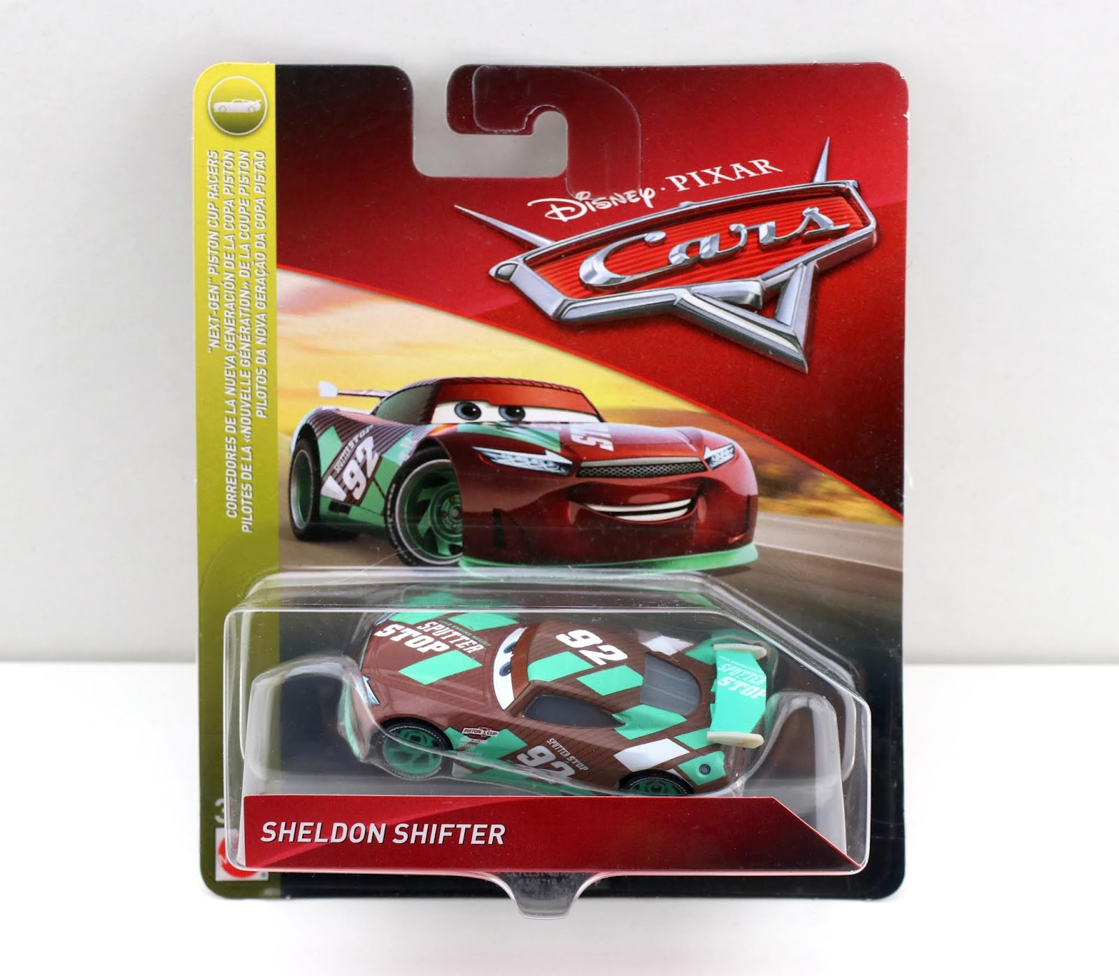 mattel cars 3 sheldon shifter diecast review