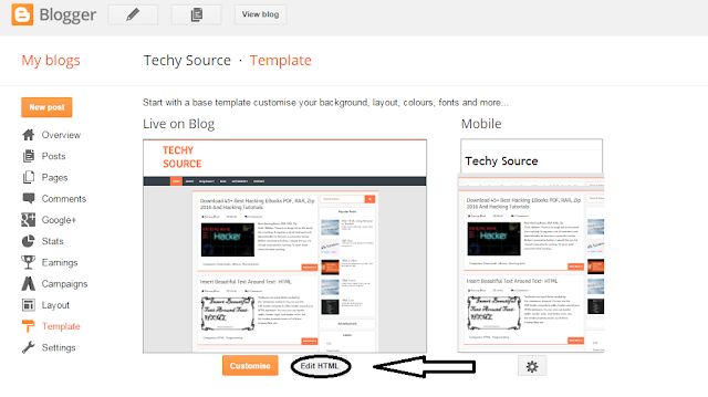 Remove Footer Credit Links From Any Blogger Templates