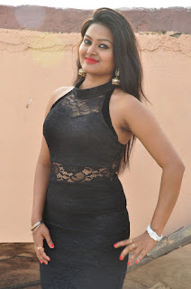 Actress Pentali Sen Stills in Black Lace Dress at Golmal Gullu Movie Pressmeet  0001.JPG