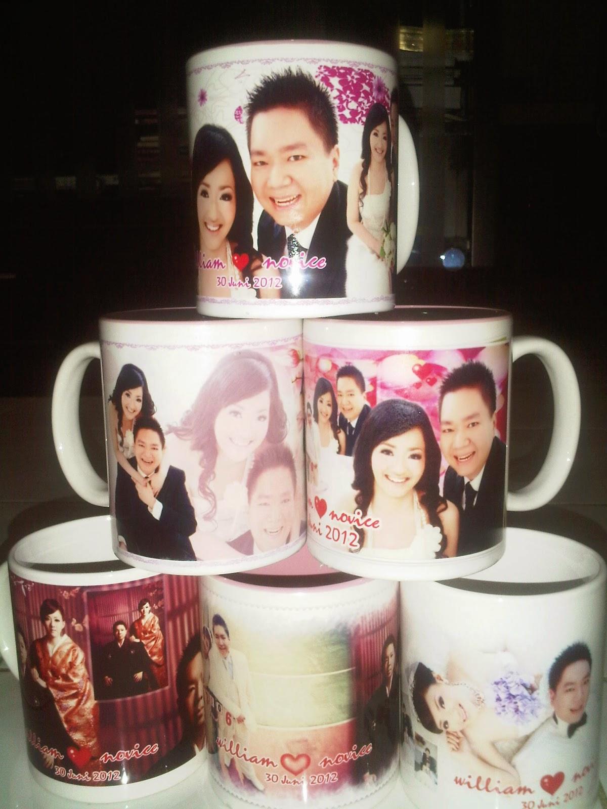 Undangan Pernikahan Berbentuk Mug keramik