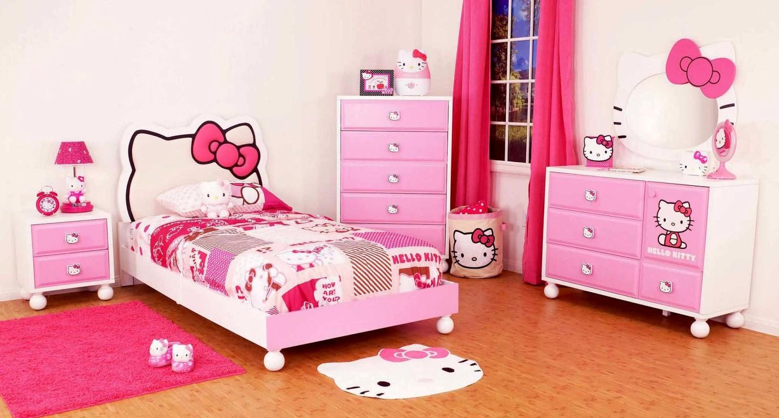 model tempat tidur anak perempuan 2