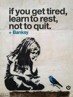 Istirahat boleh tapi menyerah jangan