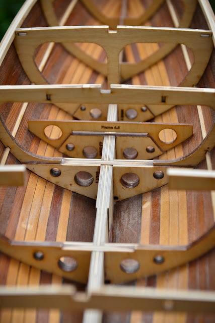 Sun Wind II RC wooden sailboat