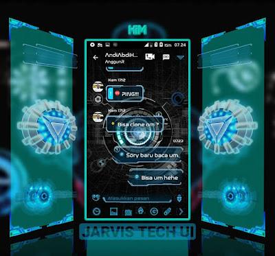 BBM MOD Jarvis Iron Man Tech versi terbaru 3.0.0.18 Apk