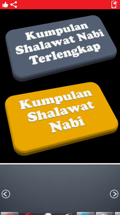 Aoplikasi Android Kumpulan Shalawat Nabi Muhammad SAW