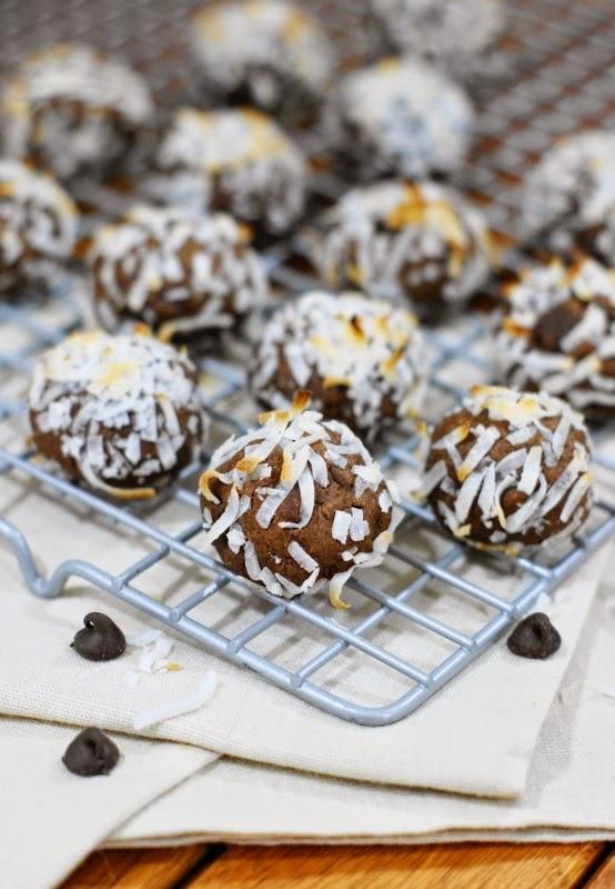 Fudgy Chocolate Coconut Drops