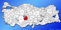 Aksaray ilinin Türkiye haritasında gösterimi