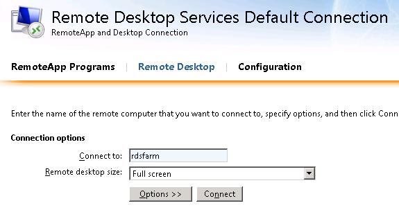 The Microsoft Platform: Force the use of RD WebAccess (block