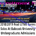 Post UTME 2018/2019 Forms Sales at Babcock University