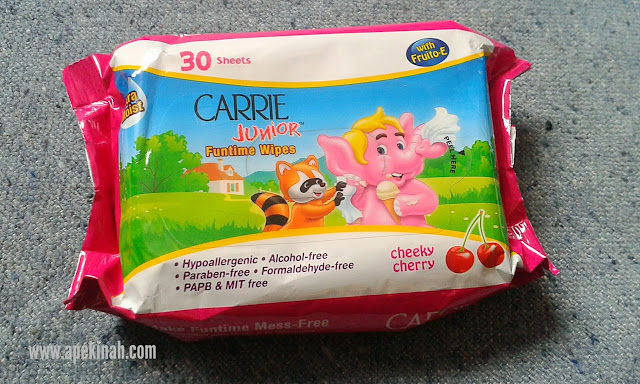Carrie Junior Funtime Wipes