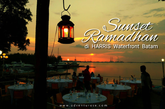 harris resort waterfront batam, sunset ramadhan