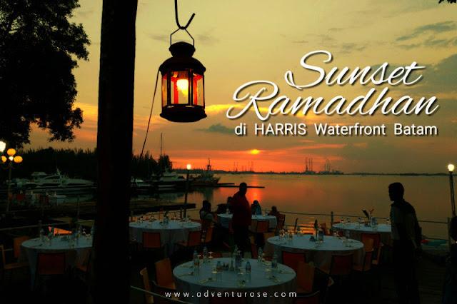 harris resort waterfront batam, sunset ramadhan