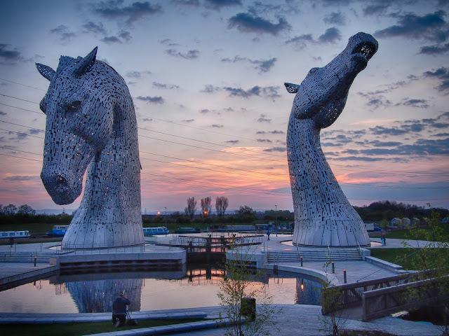 Kelpies statues near Falkirk, Scotland
