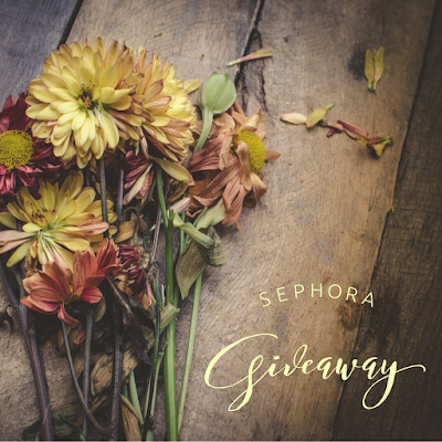 Enter the $150 Sephora Giveaway. Ends 10/10. Open WW