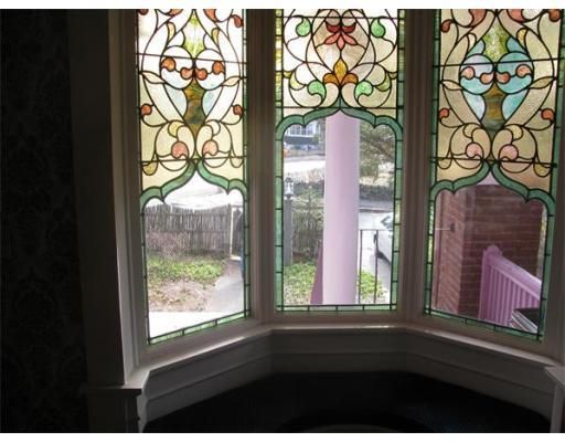 The lovely side get the look of stained glass affordable for Decorative window film stained glass victorian