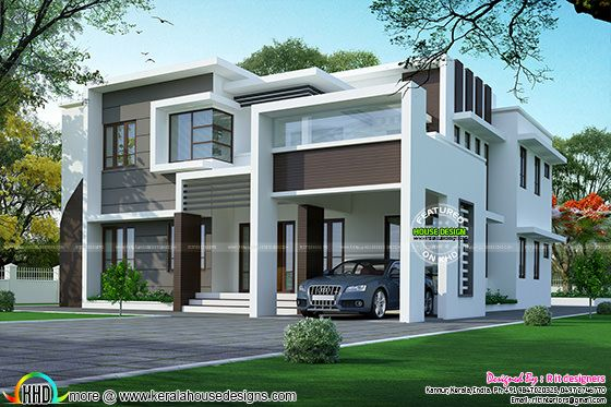 2925 square feet flat roof home