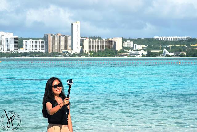 hotels, beach, woman taking photo
