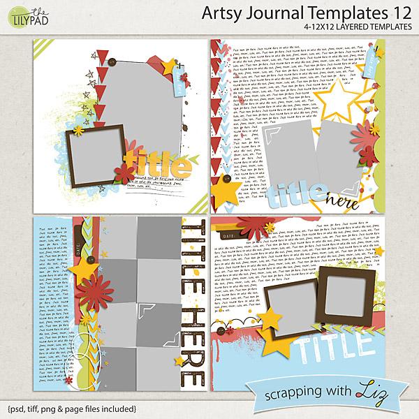 http://the-lilypad.com/store/Artsy-Journal-12-Digital-Scrapbook-Templates.html