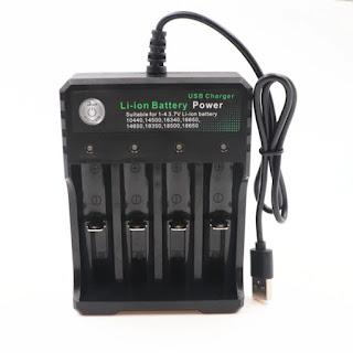 caricatore per batterie litio 18650