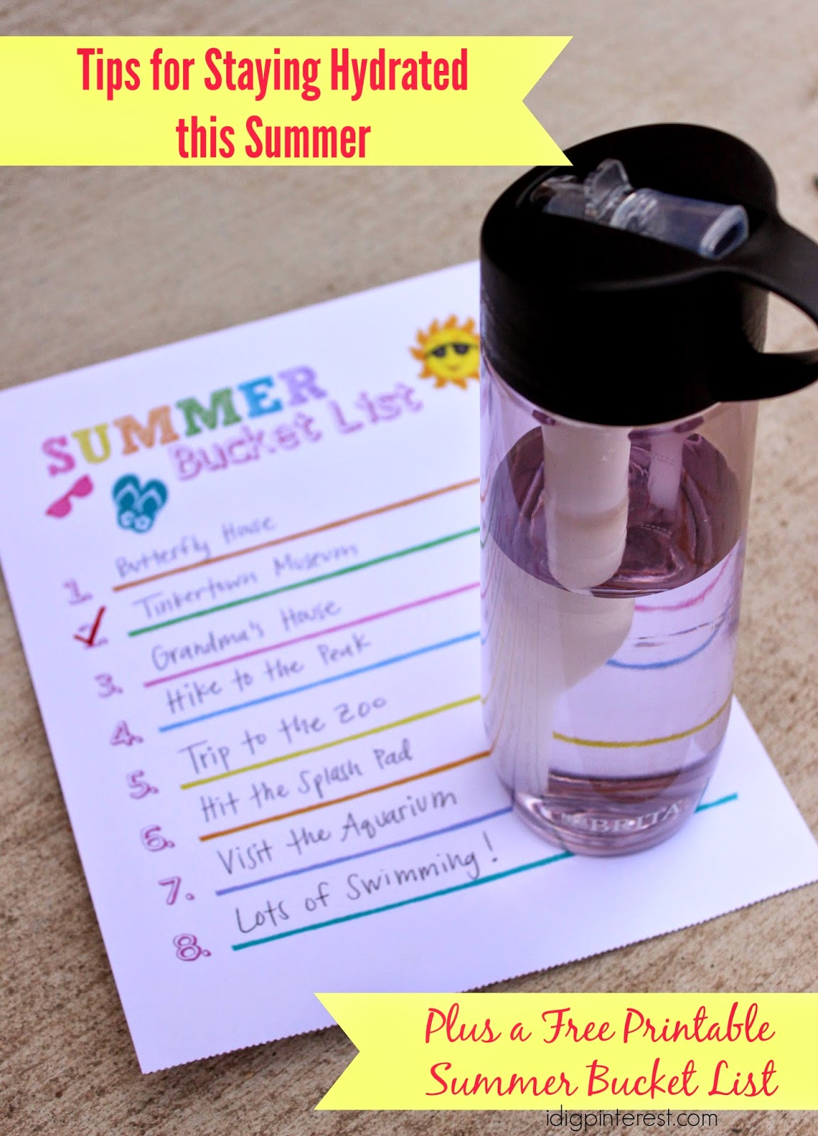 Tips For Staying Hydrated This Summer Plus A Free Printable Summer Bucket List