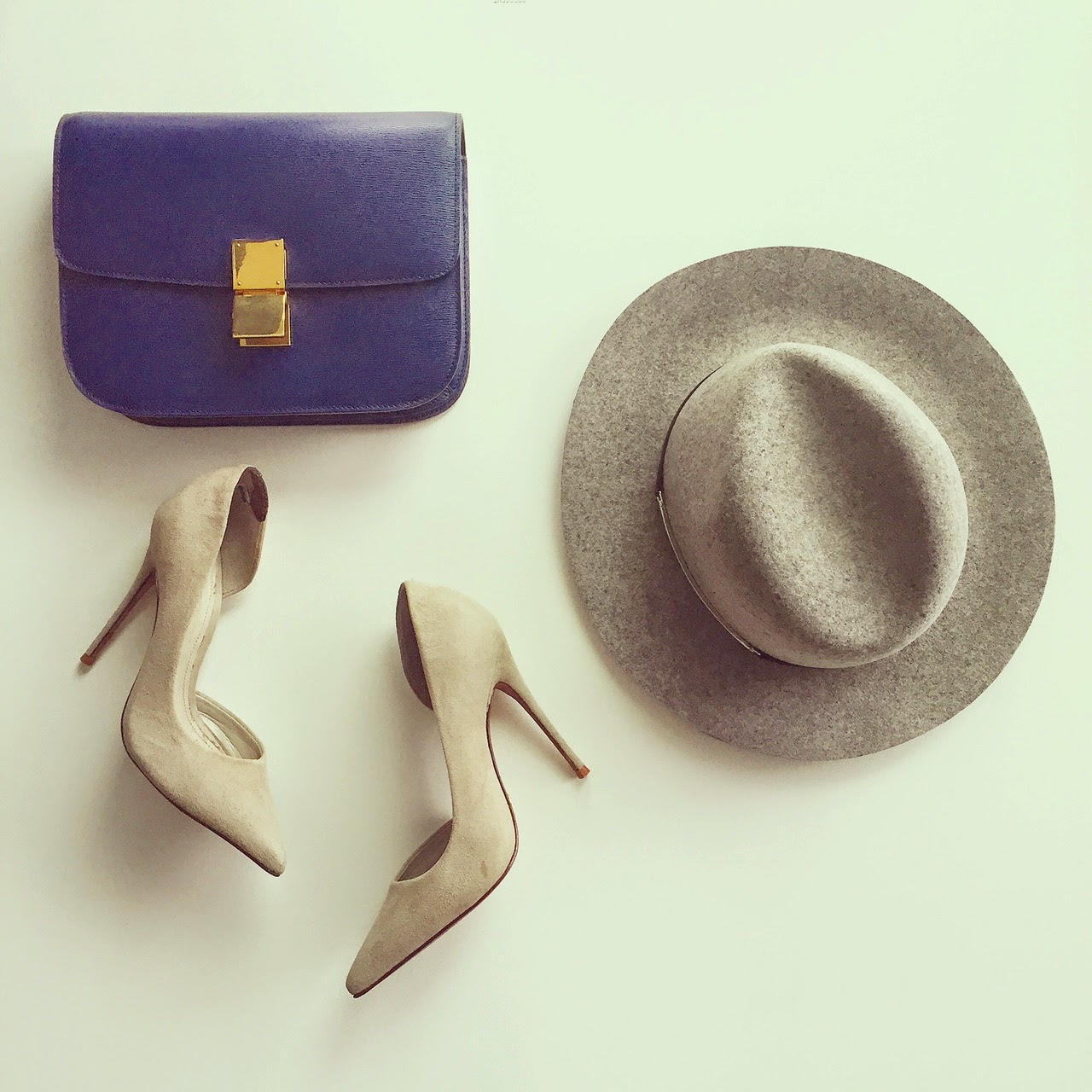 Schutz nude heels, pumps, celine classic box bag, janessa leone victorian hat, hat, fashion blog