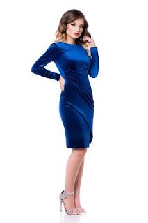 rochie-petrecuta-de-catifea-cu-falduri seducatoare-3