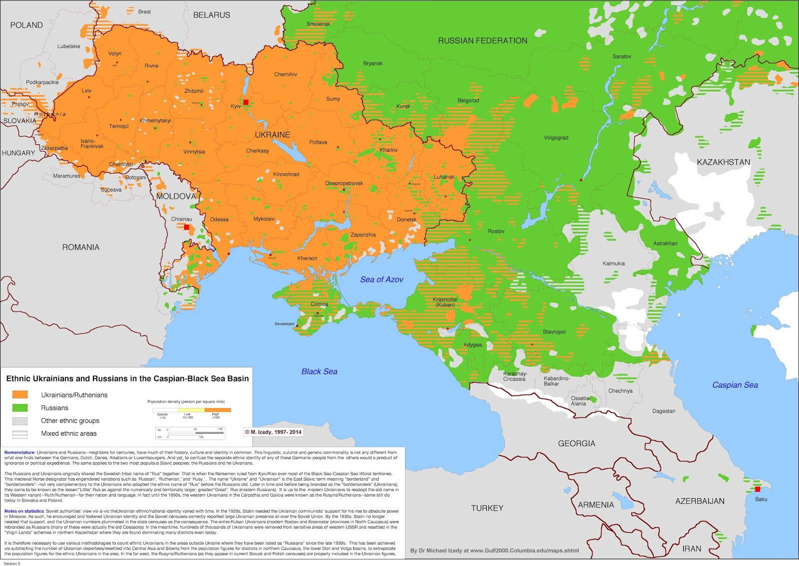 Ethnic Ukrainians & Russians in the Caspian-Black sea basin