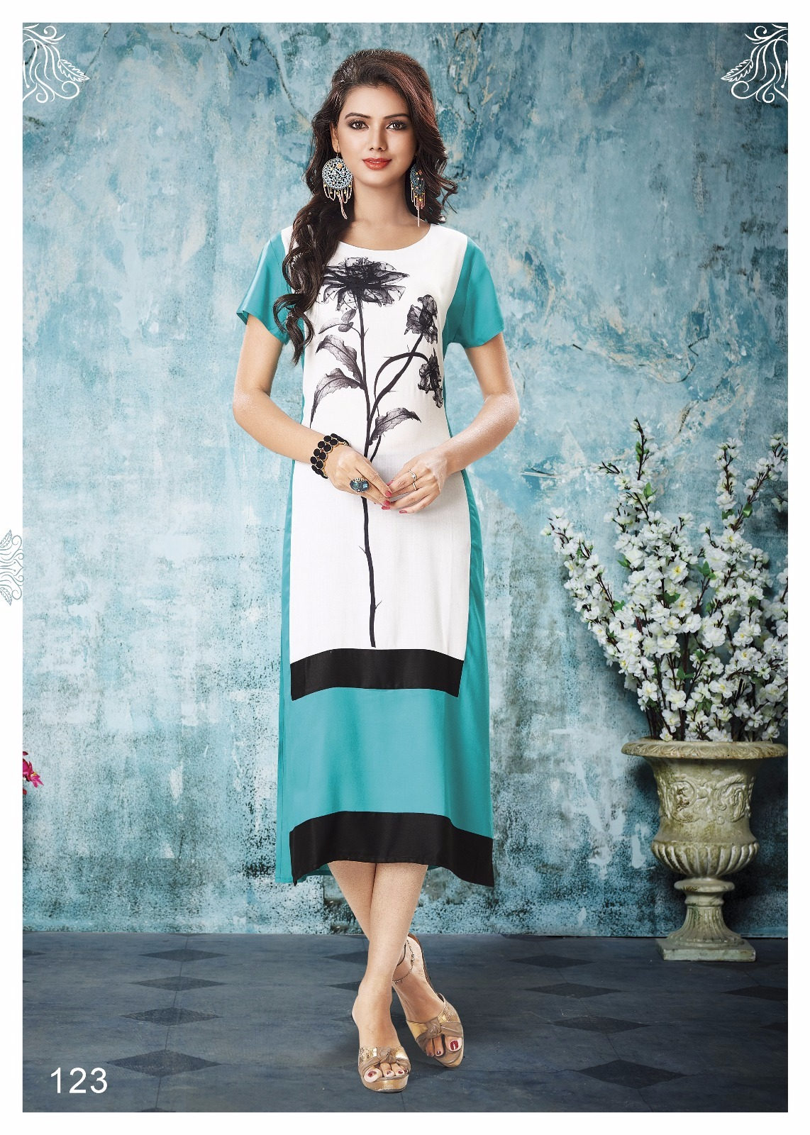 VINK- Digital print Designer Latest Fashion Kurti