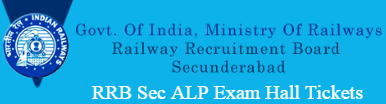 RRB Secunderabad ALP Hall Tickets 2017