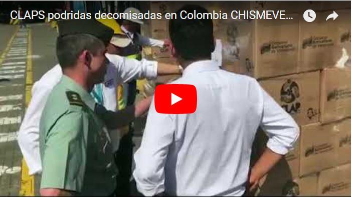 Colombia decomisó 400 toneladas de cajas Clap no aptas para el consumo