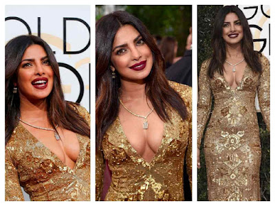 Priyanka Chopra Photos At Golden Globe Awards 2017 Red Carpet