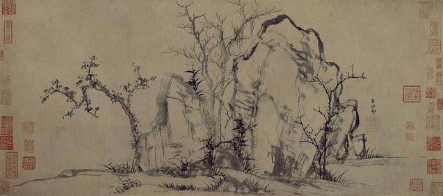 Zhao Meng Fu: Rocas y árboles