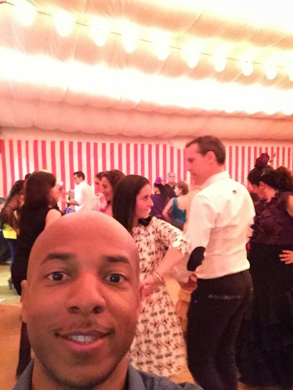 ...or taking selfies with professionals in the background