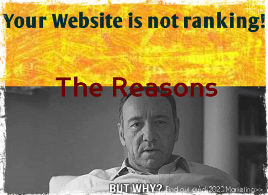 The Reasons Why your Website is not Ranking Well in Search Engines-550x400